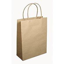 Papier - Papierová taška s uškom, natur – sada 12 ks. - 8662511_