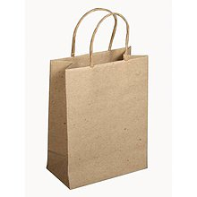 Papier - Papierová taška s uškom, natur – sada 12 ks. - 8662650_