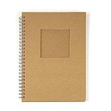 Polotovary - Zápisník špirálový s okienkom – 2 kusy - 8663091_