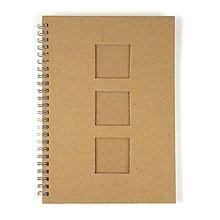 Polotovary - Zápisník špirálový A5, 3 okienka – 2 kusy - 8663133_