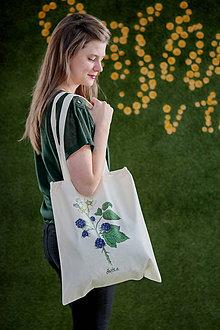 Nákupné tašky - SAShE taška (Černica) - 8662124_