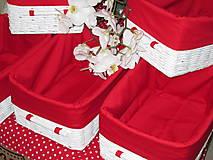 Košíky - Košíky - Biele v červenej košieľke - 8661358_