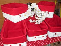 Košíky - Košíky - Biele v červenej košieľke - 8661361_