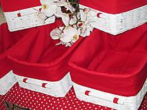 Košíky - Košíky - Biele v červenej košieľke - 8661362_
