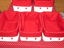 Košíky - Košíky - Biele v červenej košieľke - 8661364_