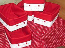 Košíky - Košíky - Biele v červenej košieľke - 8661365_