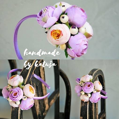 Nádherná LILA čelenka na anglický spôsob   katusha.handmade - SAShE ... d45d56980c0