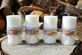 Svietidlá a sviečky - Adventné sviečky - 8661359_