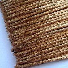 Galantéria - Saténová šnúra 2mm-1m (zlatá tmavá) - 8664216_