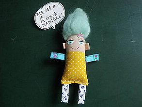 Magnetky - Mamička Blankytná Blanka - poskladaj si RODINKU - 8662113_