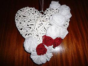 Dekorácie - svadobné srdce - 8662160_