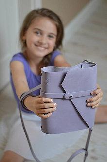 Papiernictvo - kožený zápisník Travel bag LILAC - 8660228_