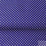 - tmavomodré bodky stredné, 100 % bavlna, šírka 140 cm, cena za 0,5 m - 8660091_