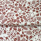 - červené Vianoce, 100 % bavlna Nemecko, šírka 140 cm, cena za 0,5 m - 8660692_