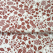 Textil - červené Vianoce, 100 % bavlna Nemecko, šírka 140 cm, cena za 0,5 m - 8660692_