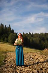 Sukne - Bambusová maxi sukňa - 8660443_