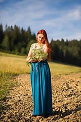 Sukne - Bambusová maxi sukňa - 8660444_