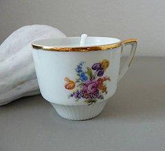 Svietidlá a sviečky - teacup candle autumn I. - 8663386_