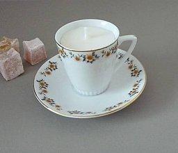 Svietidlá a sviečky - teacup candle autumn II. - 8663489_