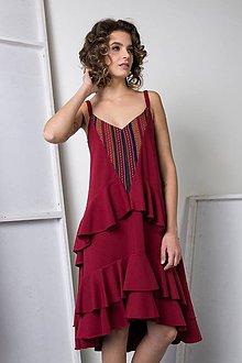 Šaty - Bordové šaty Florence - sleva ze 113 na 90!!! - 8662078  f1ea895e16