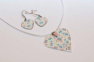 Sady šperkov - Folklórne srdiečka Tulipán - set - 8663886_