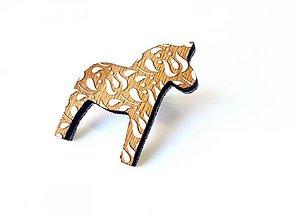 Odznaky/Brošne - Koník Tulipán tmavý - 8662215_