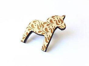 Odznaky/Brošne - Koník Tulipán svetlý - 8662223_