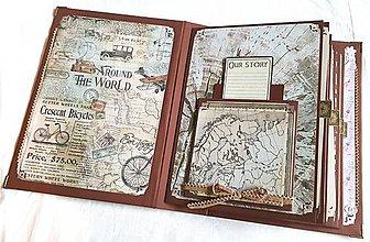 Papiernictvo - Veľký TRAVEL album pre párik cestovateľov - 8661208_