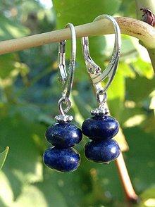 Náušnice - Lapis lazuli - náušnice v striebre - 8663891_
