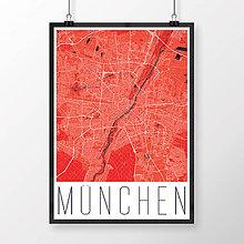 Obrazy - MNÍCHOV, moderný, červený - 8660080_