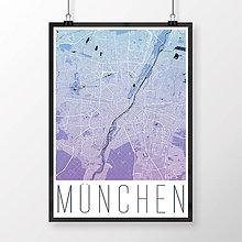 Obrazy - MNÍCHOV, moderný, modro-fialový - 8661954_