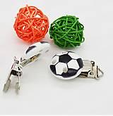 Klip na dudlík futbalová lopta 2,9 cm (ČIERNA)