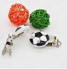 Polotovary - Klip na dudlík futbalová lopta 2,9 cm - 8661422_