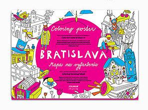 Hračky - Mapa na vyfarbenie - BRATISLAVA - 8660021_