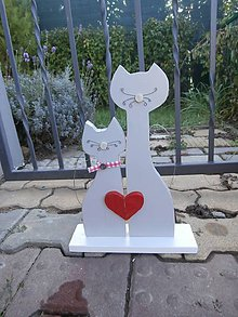 Dekorácie - Kočky se srdíčkem - 8661246_