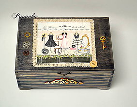Krabičky - Veľká šperkovnica, či ihelník - 8660582_