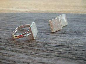 Sady šperkov - Biela trblietavá súprava postriebrená Ag č.1364 - 8662445_