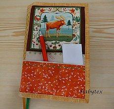 Papiernictvo - Los - obal na zápisník alebo knihu - 8664228_