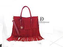 "Kabelky - Kožená kabelka I ♥ New York ""Červená- červený velúr"" - 8663056_"