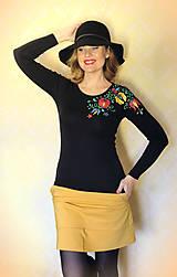 - Maľované tričko farebné folk kvety... - 8661118_
