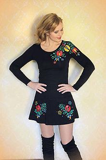Sukne - Maľovaná sukňa s folk kvetmi... - 8660955_