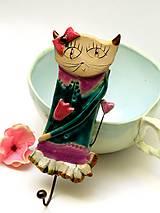 - vešiak mačka tyrkysový - 8660670_