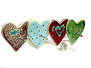Nábytok - vešiak srdce veľký 4 háčiky - 8660343_