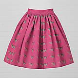 Sukne - Diva Bara - bavlnená sukňa - červienka - 8662246_