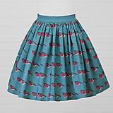 Sukne - Diva Bara - bavlnená sukňa - hýľ - 8662292_