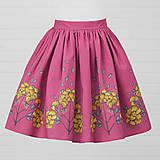 Sukne - Diva Bara - bavlnená sukňa - červienka a zlatý dážď - 8662345_