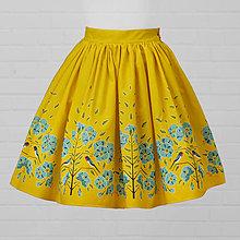 Sukne - Diva Bara - bavlnená sukňa - lastovička a ľan - 8662362_