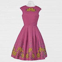 Šaty - Ružové šaty - červienka a zlatý dážď - 8662878_
