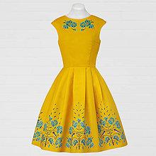 Šaty - Žlté šaty - lastovička a ľan - 8662997_