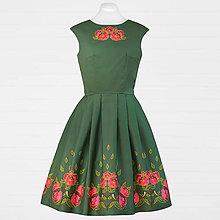 Šaty - Zelené šaty - sýkorka a pivónia - 8663042_